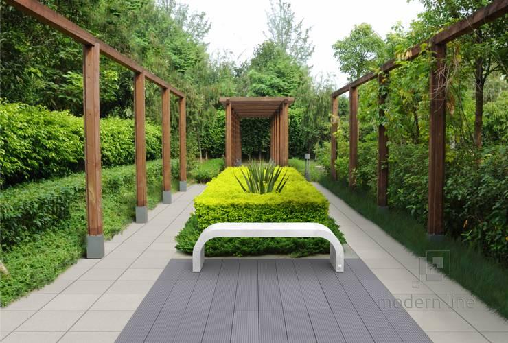 Ława Harmony: styl , w kategorii Ogród zaprojektowany przez Modern Line