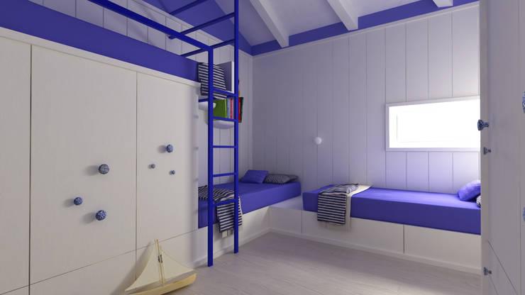 Restauro Villino Liberty: Camera da letto in stile  di Architetto Alboini Maria Gabriella