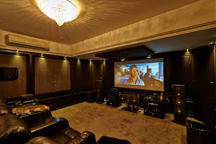 ​Luxurious Living:  Media room by Interface