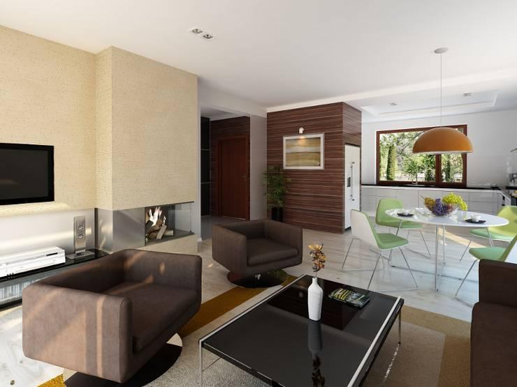 Moderne Wohnzimmer von Biuro Projektów MTM Styl - domywstylu.pl Modern