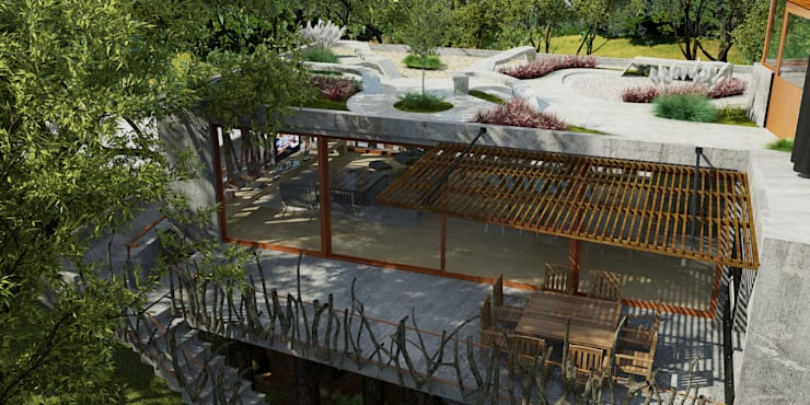 Casa Arbol: Casas de estilo moderno por A + R