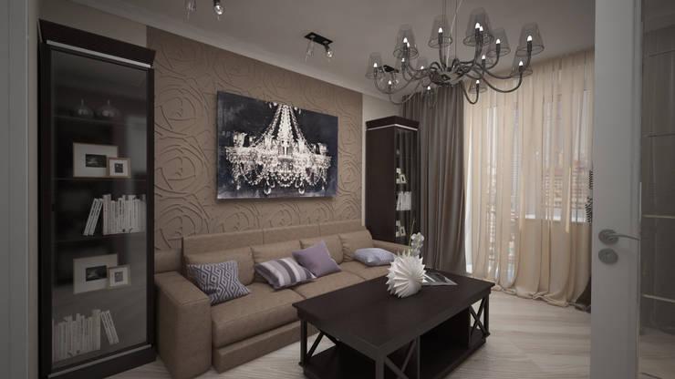 Сдержанный Ардеко на Кутузовском проспекте: Гостиная в . Автор – дизайн-бюро ARTTUNDRA