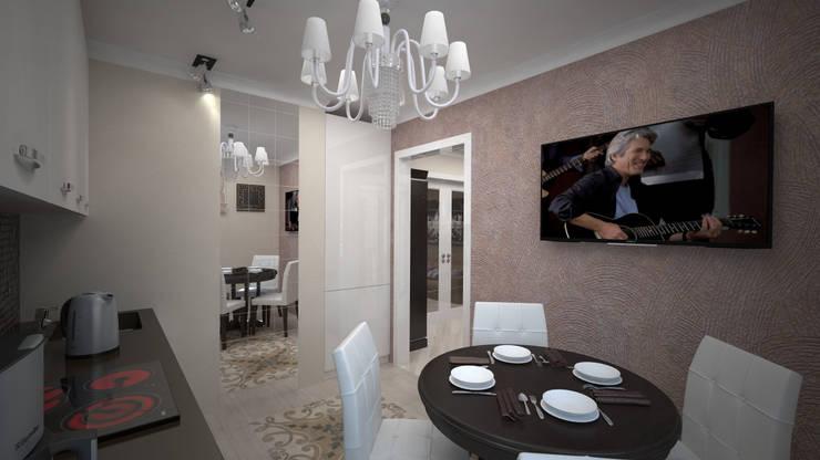 Сдержанный Ардеко на Кутузовском проспекте: Кухни в . Автор – дизайн-бюро ARTTUNDRA