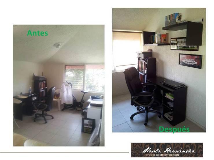 Proyecto: Casas de estilo  por Paola Hernandez Studio Comfort Design