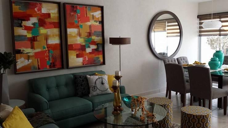 Oficina con área de juegos: Recámaras de estilo  por Paola Hernandez Studio Comfort Design
