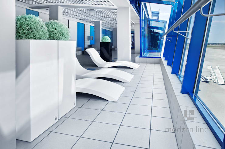 Szezlong Harmony: styl , w kategorii Spa zaprojektowany przez Modern Line