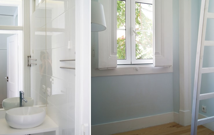 Apartamento Príncipe Real: Casas de banho  por blaanc
