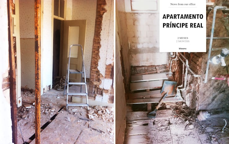 Apartamento Príncipe Real: Paredes  por blaanc