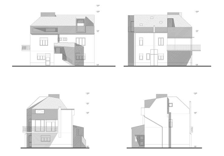 Casa EG: Case in stile in stile Moderno di es-arch