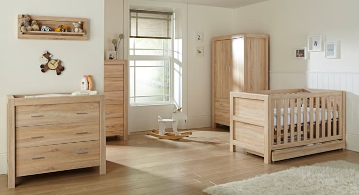 Milan 6 Piece Room Set - Reclaimed Oak:  Nursery/kid's room by Tutti Bambini