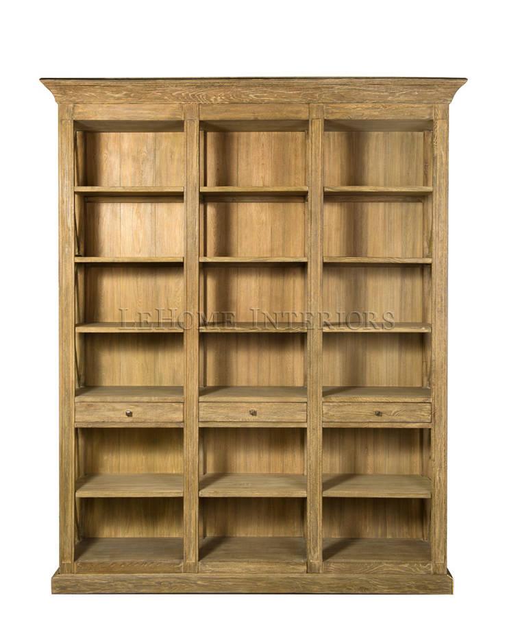 Библиотека Barton Oak Bookcase L033: Рабочий кабинет  в . Автор – LeHome Interiors