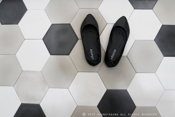 hexagon: dcrete의  벽 & 바닥