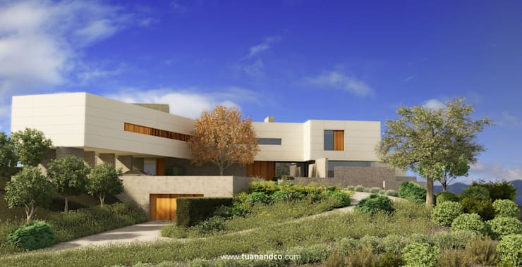 Casas de estilo  por TUAN&CO. arquitectura