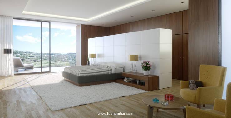 Dormitorio principal: Dormitorios de estilo  de TUAN&CO. arquitectura