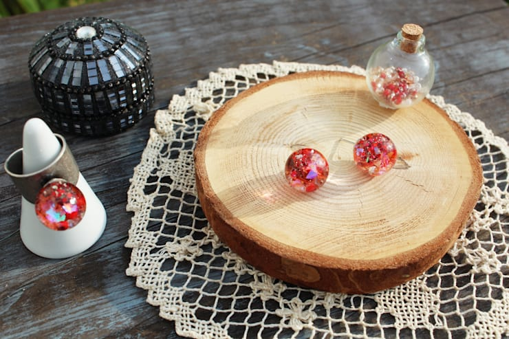 Luvin Waterball Accessoryㅡ2. Earring : luvinball의  가정 용품
