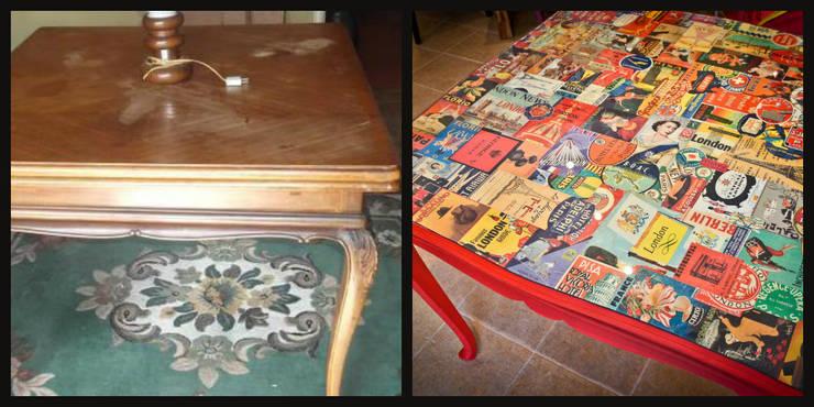 Mesa de jantar reciclada:   por Restauro em Sintra