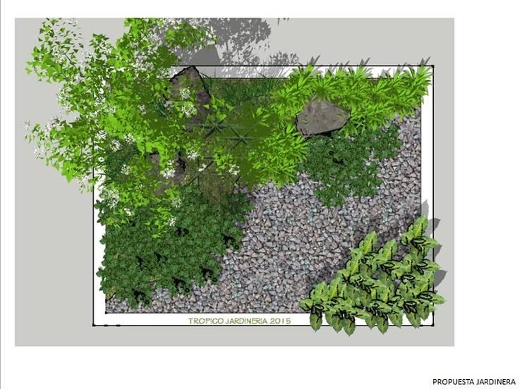 JARDÍN TIPO HORTALIZA: Jardines de estilo  por Tropico Jardineria