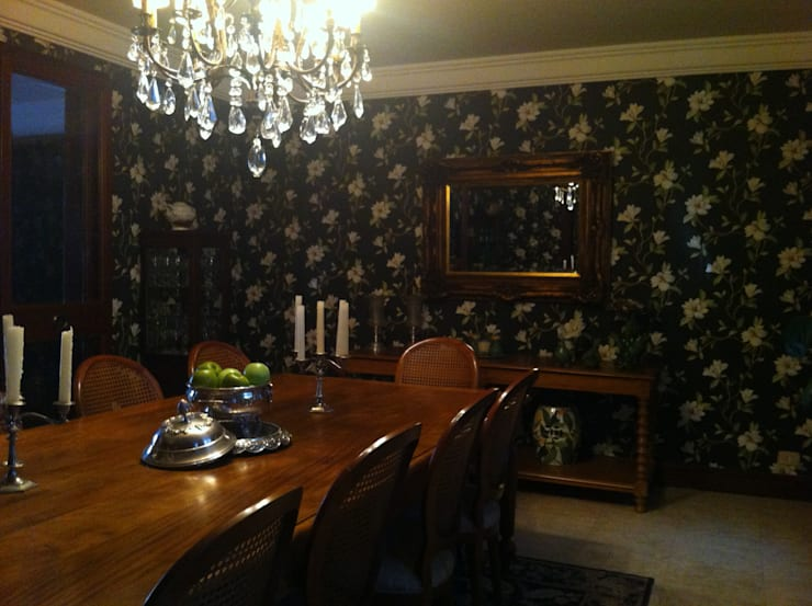 Residência Interior Paulista I – Reforma: Sala de jantar  por Colletes Arquitetura,