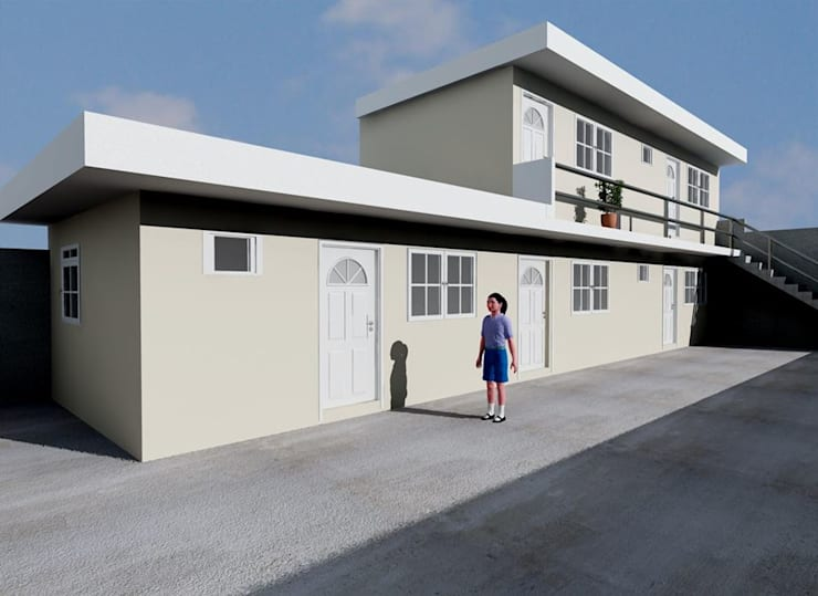 ANEXO DEPARTAMENTOS: Casas de estilo  por M4X
