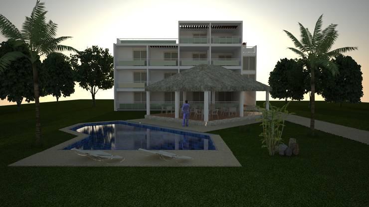 HOTEL: Casas de estilo  por M4X