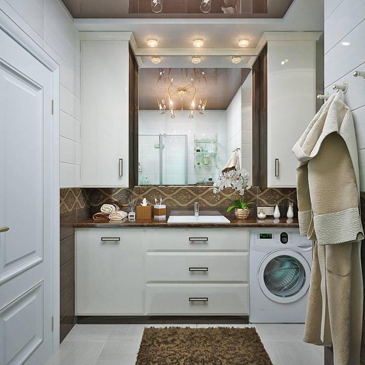 http://design-studio-ideas.ru/ru-ru/etud-v-pastelnyh-tonah-dizain-kvartiry-v-novostroike: Ванные комнаты в . Автор – Студия дизайна Interior Design IDEAS, Модерн