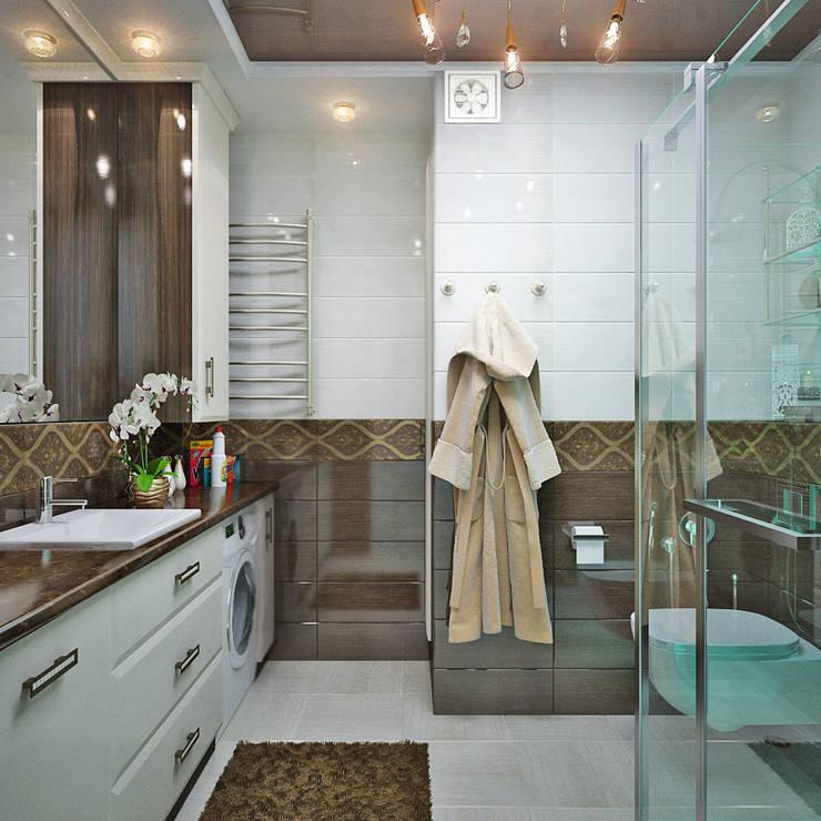 Французский стиль для современной спальни: Ванные комнаты в . Автор – Студия дизайна Interior Design IDEAS, Модерн