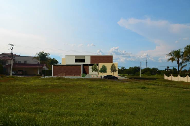 CASA CF-A: Casas de estilo  por Villanueva Fernandez Arquitectos