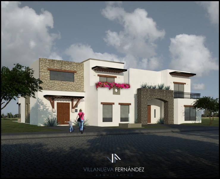 CASAS ZIRANDARO: Casas de estilo colonial por Villanueva Fernandez Arquitectos
