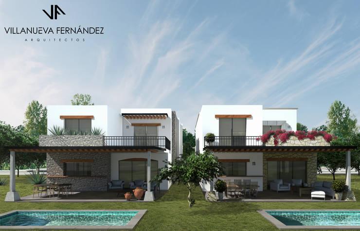 CASAS ZIRANDARO: Casas de estilo  por Villanueva Fernandez Arquitectos