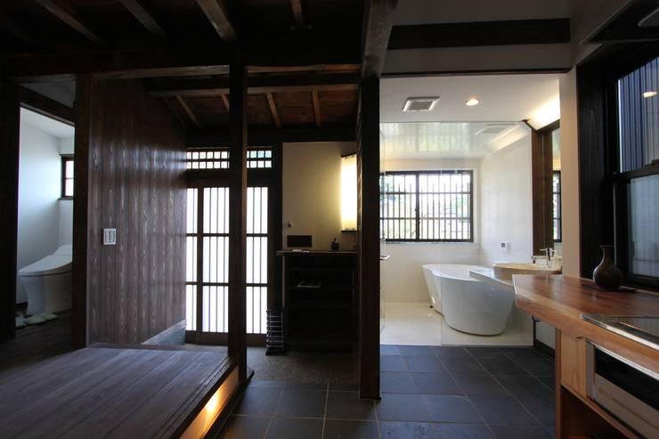 東山の家: tsf_takaが手掛けた廊下 & 玄関です。