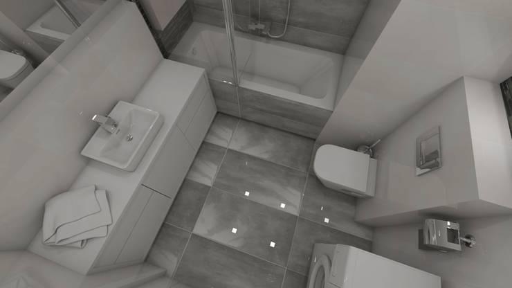 Widok na posadzkę: styl , w kategorii Łazienka zaprojektowany przez Katarzyna Wnęk,