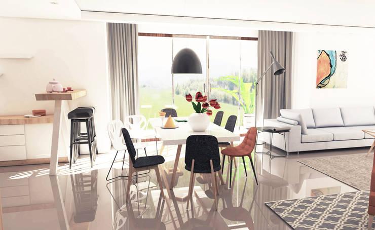 Misz masz przy stole: styl , w kategorii Jadalnia zaprojektowany przez Katarzyna Wnęk
