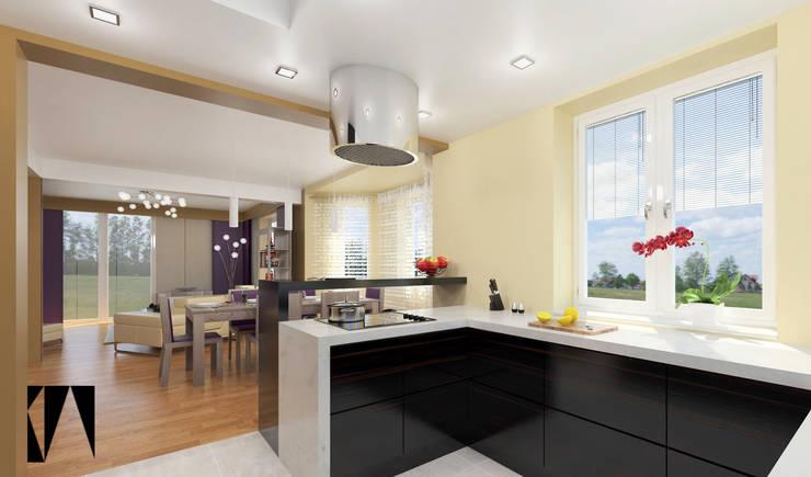 Widok z kuchni: styl , w kategorii Kuchnia zaprojektowany przez Katarzyna Wnęk