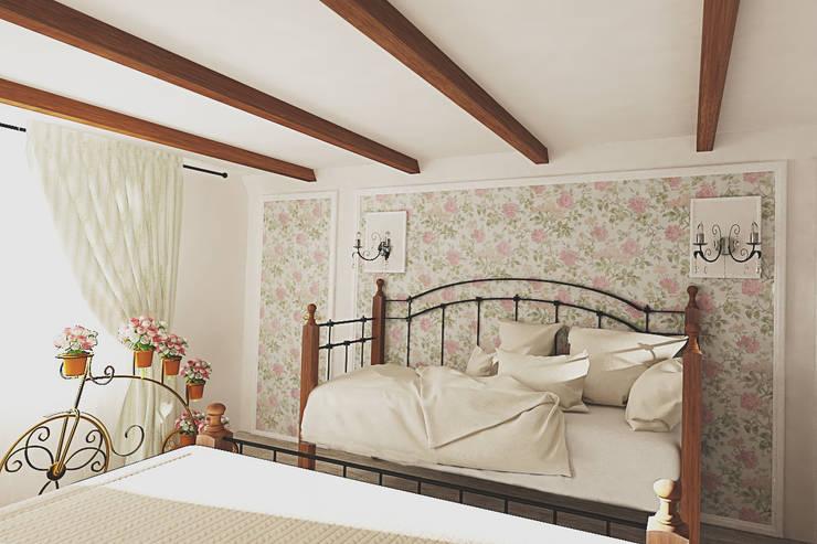 Прованс в загородном доме: Спальни в . Автор – Алёна Демшинова,