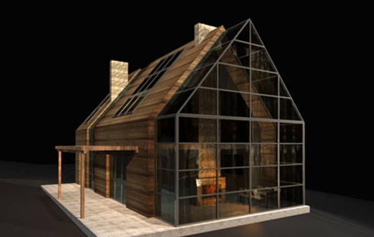 Nowoczesny dom: styl , w kategorii Taras zaprojektowany przez Piekarek Projekt-Paweł Piekarek,Nowoczesny