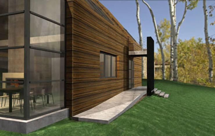 Nowoczesny dom: styl , w kategorii Ściany zaprojektowany przez Piekarek Projekt-Paweł Piekarek,Nowoczesny