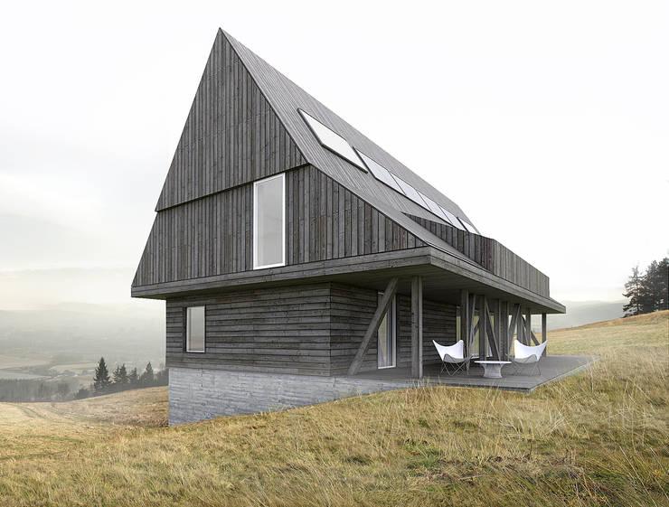 DOM W GÓRACH: styl , w kategorii Domy zaprojektowany przez BASK grupa projektowa
