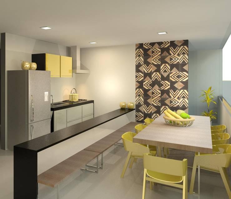 Cocinas de estilo moderno de Patrícia Alvarenga Moderno