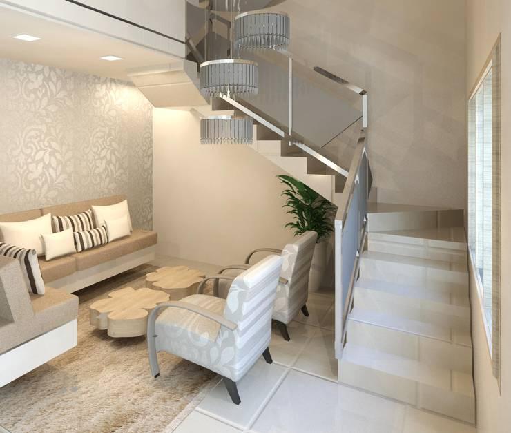 Salones de estilo moderno de Patrícia Alvarenga Moderno
