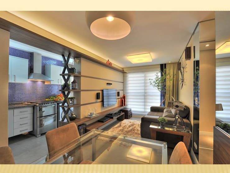 Living room by Bender Arquitetura