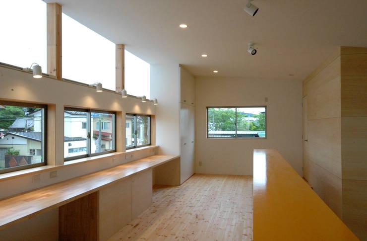 スタディスペース 和風デザインの 書斎 の 株式会社ブレッツァ・アーキテクツ 和風
