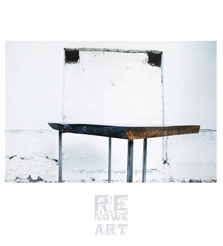 Stolik Kawowy Z Litego Dębu: styl , w kategorii Salon zaprojektowany przez ReNowe Art