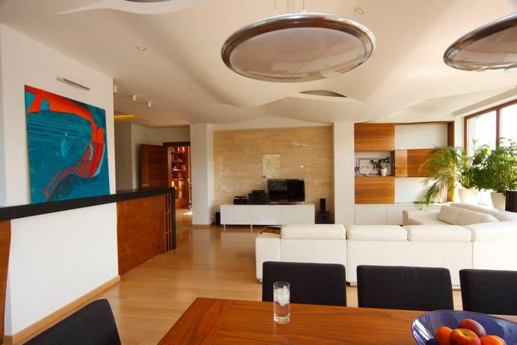 apartament na ursynowie : styl , w kategorii Jadalnia zaprojektowany przez PIKSTUDIO,