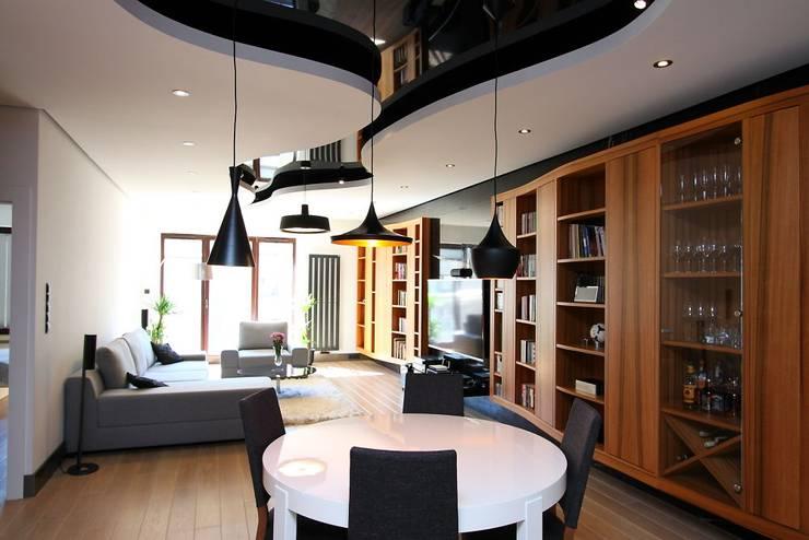 apartament  miasteczko wilanow: styl , w kategorii Salon zaprojektowany przez PIKSTUDIO,Nowoczesny