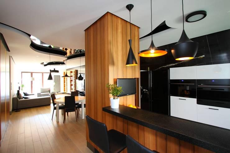 apartament  miasteczko wilanow: styl , w kategorii Jadalnia zaprojektowany przez PIKSTUDIO,Nowoczesny