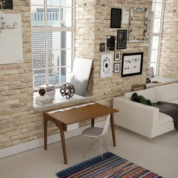 Рабочий кабинет  в . Автор – Osmose le bois