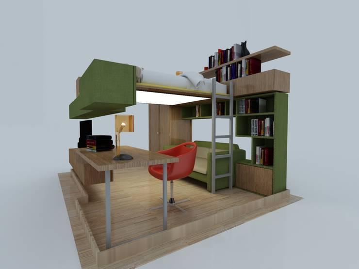 PRATIKIZ MIMARLIK/ ARCHITECTURE – ZD House Teenage Room:  tarz Çocuk Odası