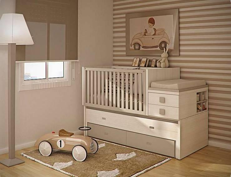 CUNAS CONVERTIBLES: Habitaciones infantiles de estilo  de CREA Y DECORA MUEBLES