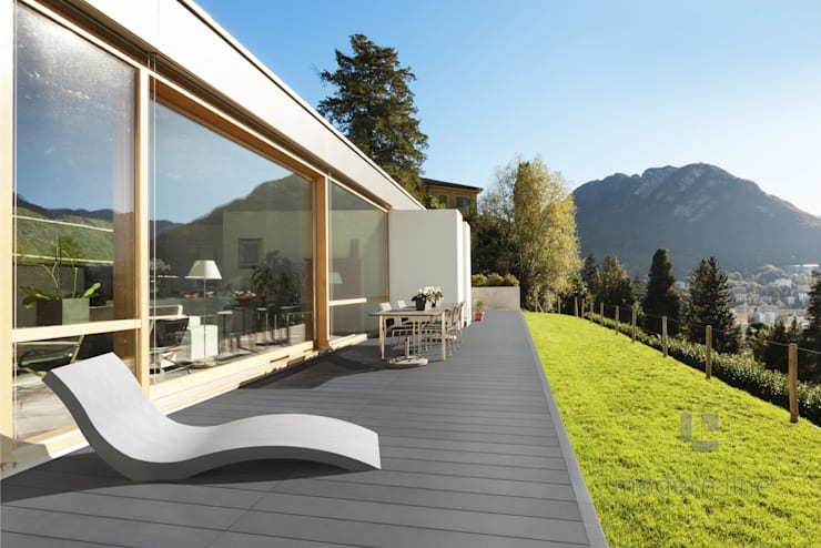 Paredes y pisos de estilo  por Modern Line