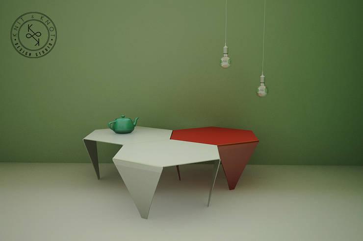 Knit & Knot Design Studio: Salas de estilo  por Knit&Knot Design Studio